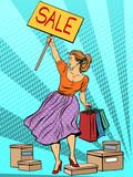 Fototapety Discount woman sale
