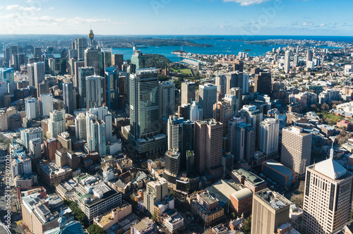 Poster Sydney Central business district from the air