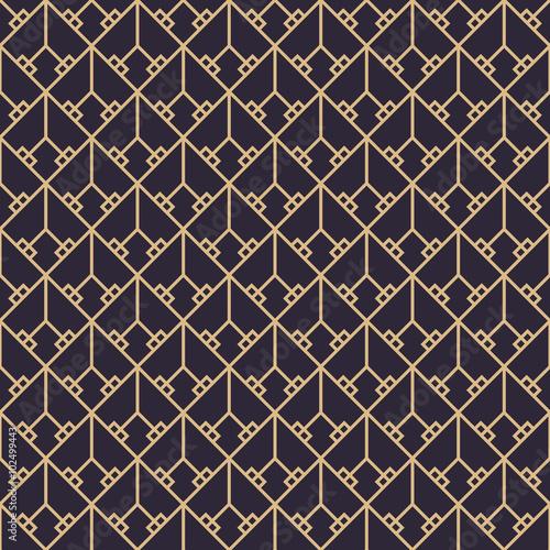 Naklejka Geometric gold luxury pattern