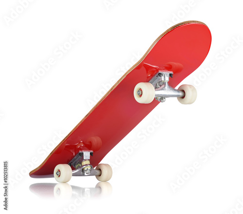 Aluminium Skateboard Skateboard deck on white background, isolated path included
