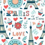Paris seamless pattern