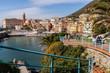 Il centro di Genova Nervi , Genova , Mar Ligure , Liguria , Italia