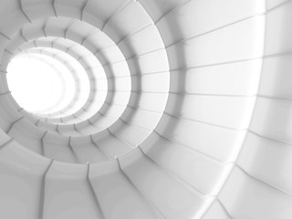 White Abstract Tunnel Design Background