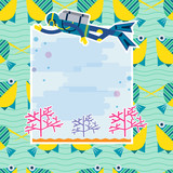 Vector background diving