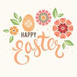 Fototapety Easter Floral Egg Card