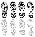footprint vector set
