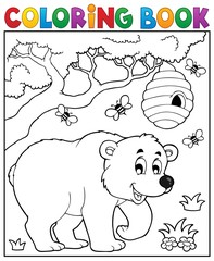 Coloring book bear theme 3