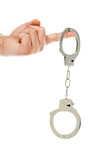 hand with handcuffs - 102611430