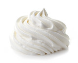 whipped cream on white background - 102618408