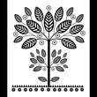 Drzewko wycinanka czarno-biała
