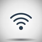 Flat black Wireless icon