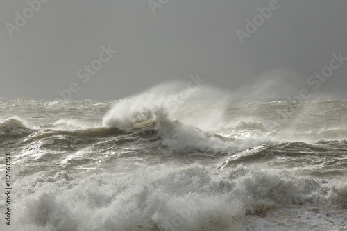 Stormy sea waves