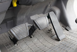 Fototapety pedal clutch, brake and accelerator. forklift