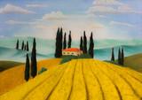 Pastellbild Toskana