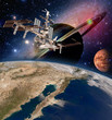 Earth satellite astronomy international space station iss saturn planet mars. Elements of this image furnished by NASA.