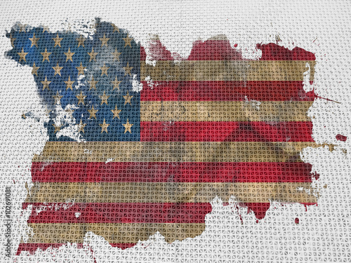 Poster Flag of USA, background, texture