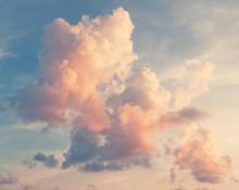 Sonniger Himmel Hintergrund im Vintage-Retro-Stil