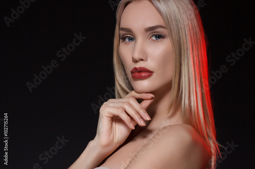 Beautiful sensual blonde woman. Beauty portrait.