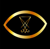 Sigil of Lucifer within an eye