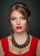 Young beauty woman studio shot fashion