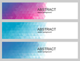 Vector abstract background. Polygonal set of banners.