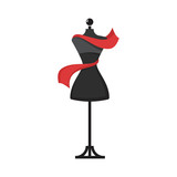 dummy dress illustration vector