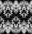 Seamless lace pattern, flower vintage vector background. - 102746818