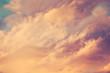 beautiful clouds at sunset