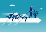 The Team. Business illustration.
