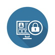 Online Protection Icon. Flat Design.