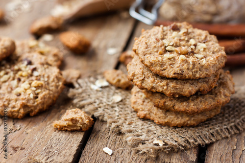 homemade oatmeal cookies with nuts Poster