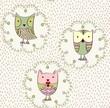 Vector cartoon owls