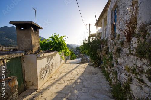 Romantic village Polyrrhenia, Crete, Greece