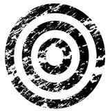 grunge scratched vintage target