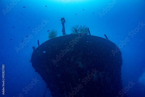 Aluminium Schipbreuk Ship Wreck in maldives