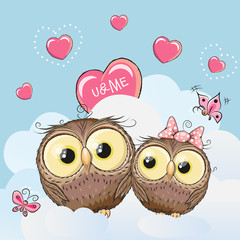 Cute Lovers Owls