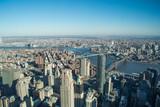 New York Skyline- Downtown view of Brooklyn Bridge and Manhattan Bridge
