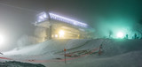 snowmaking during snow storm atski resort
