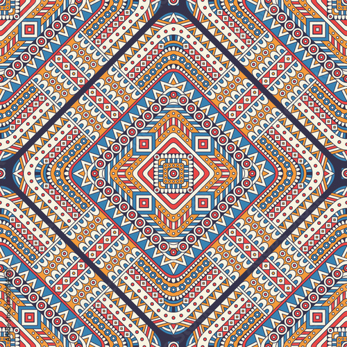 Ethnic floral seamless pattern - 102854428