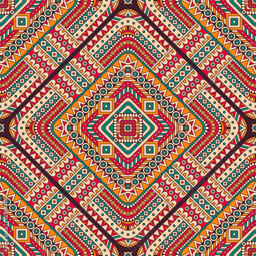 Ethnic floral seamless pattern - 102854441