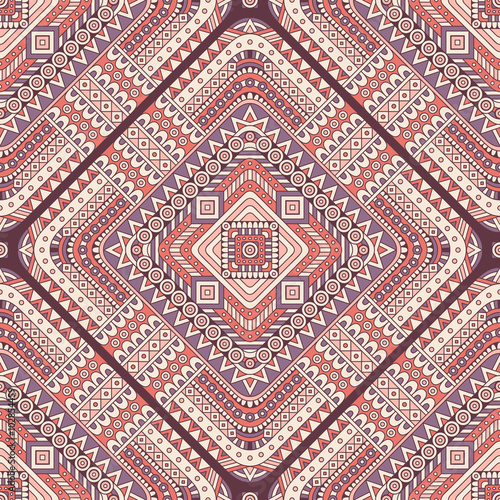 Ethnic floral seamless pattern - 102854459