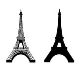 Eiffel tower isolated vector illustration