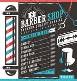 Fototapety Barber Shop vector price list template