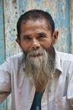 An 80 year old man from the ancient town Daxu in Guilin Guangxi Province China