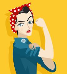 feminist girl holding her arm