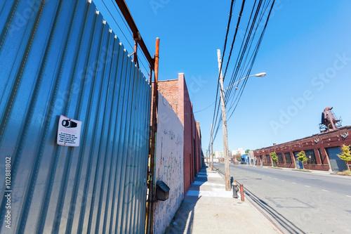 Fabrikgelände in einem Industriegebiet in der Bronx, New York City