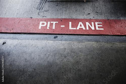Foto op Plexiglas F1 PIT-LANE