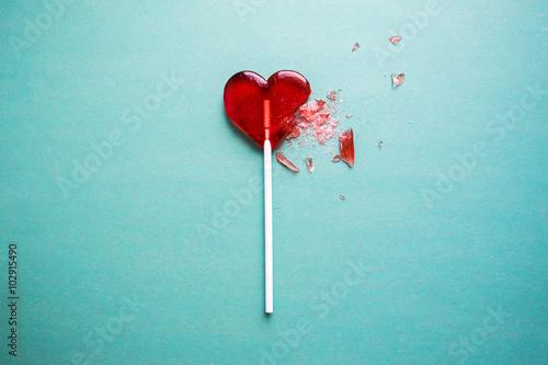 broken heart lollipop