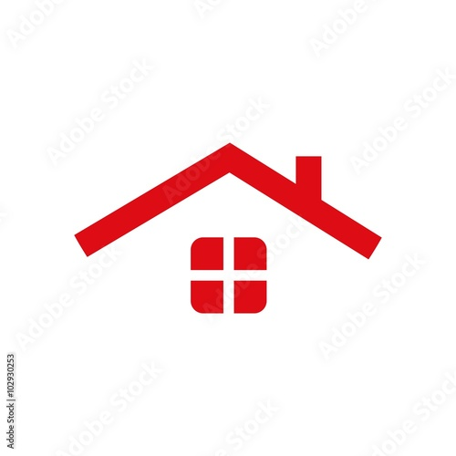 Simple house logo imagens e vetores de stock royalty for Minimalist house logo