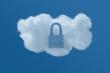 Cloud in Blue Sky with Locked Padlock